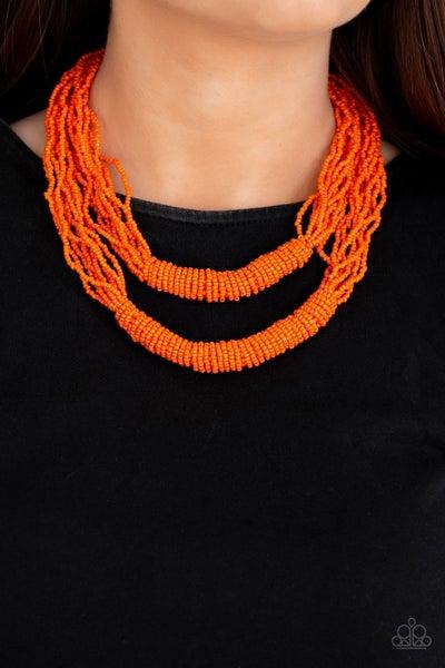 Right As RAINFOREST Orange Necklace