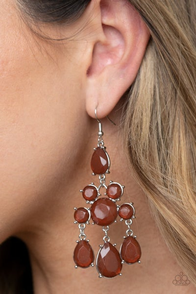 Afterglow Glamour Brown Earrings