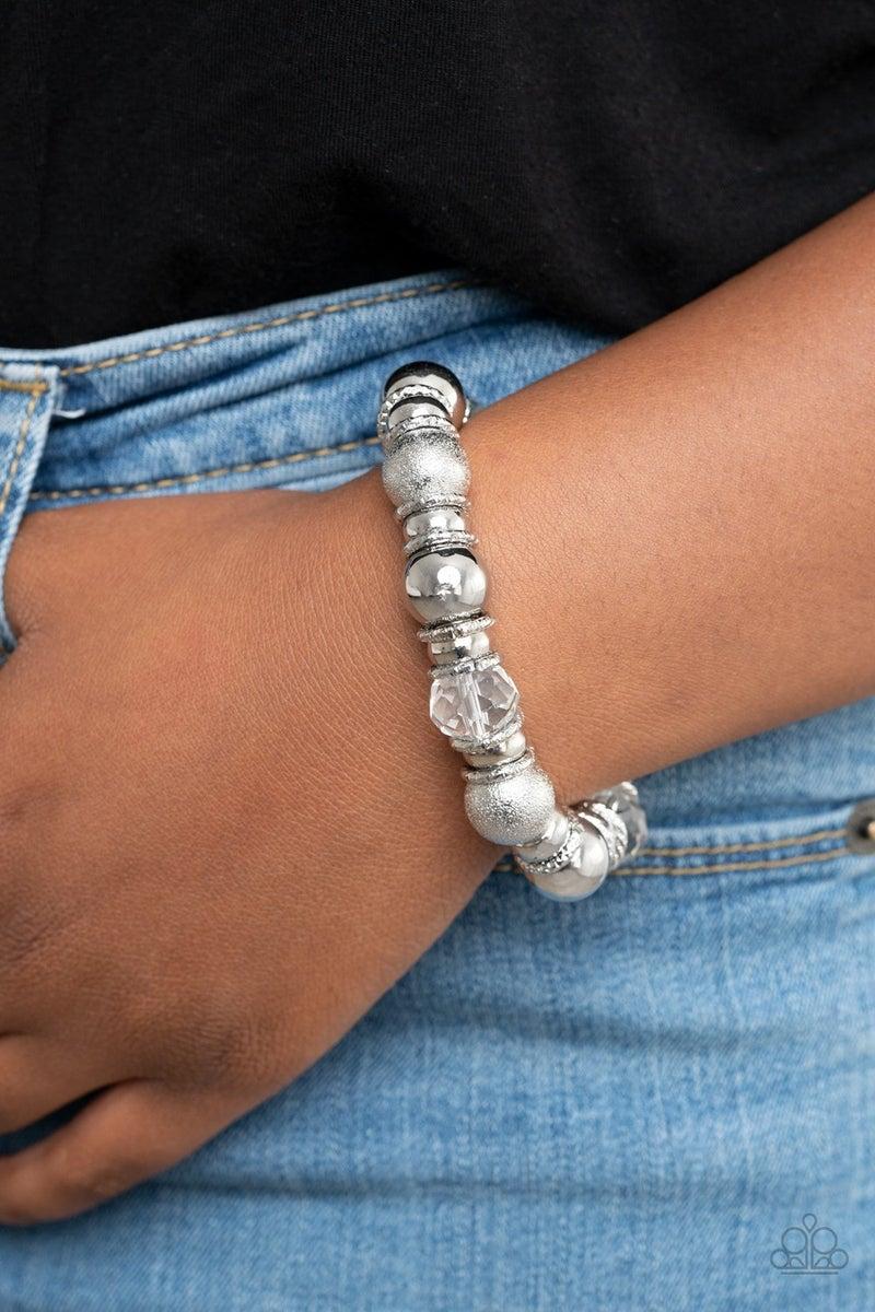 Take Your Best Shot White Bracelet