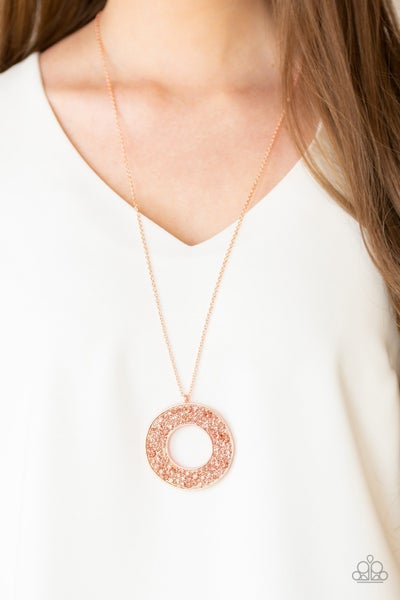 Bad Heir Day Copper Necklace