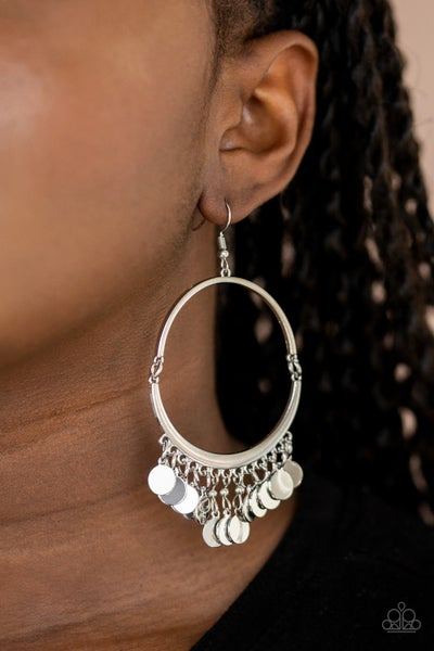 Speed of Spotlight Silver Earrings
