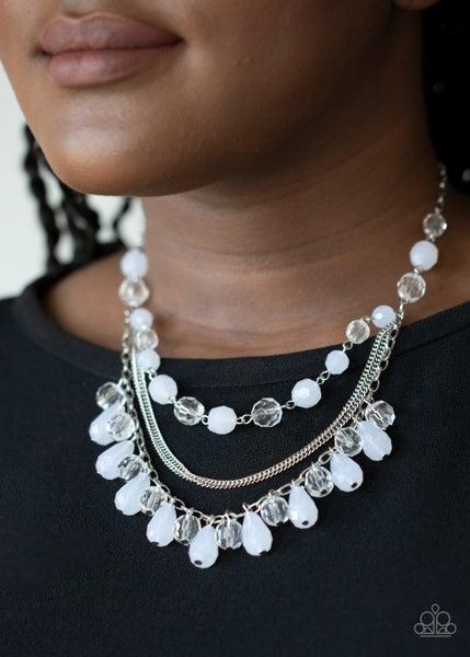 Awe-Inspiring Iridescence White Necklace