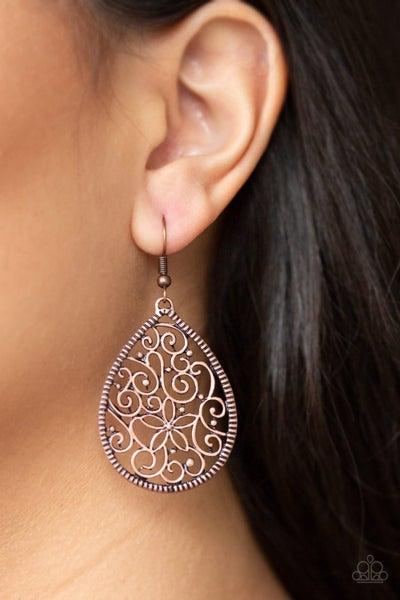 I'm Doing Vine Copper Earrings