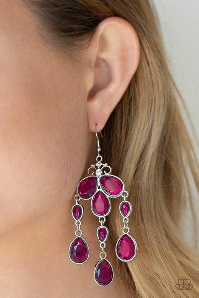 Clear The Heir Purple Earrings
