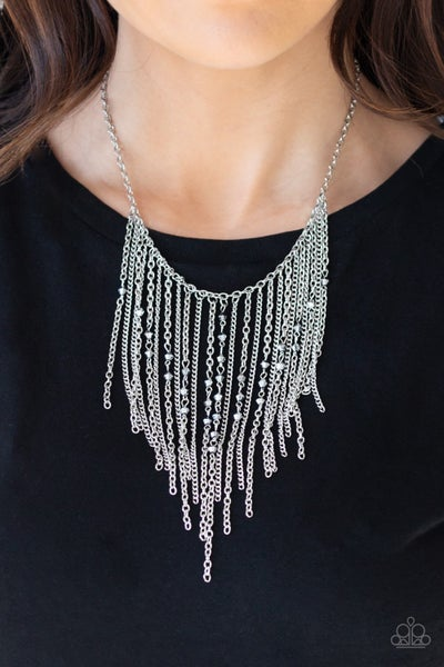 First Class Fringe Silver Necklace