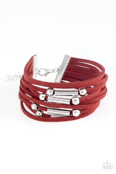 Back To Backpacker Red Bracelet