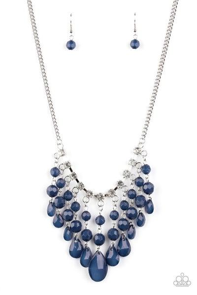 Social Network Blue Necklace