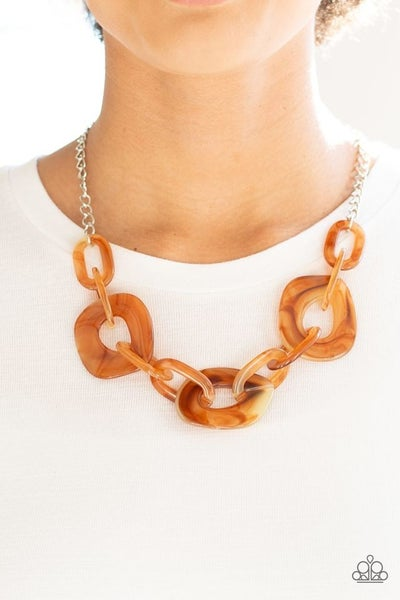 Courageously Chromatic Brown Necklace