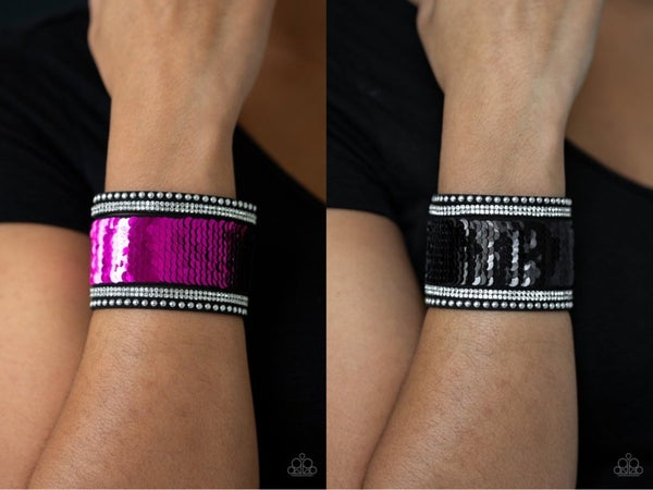 MERMAIDS Have More Fun Pink Black Bracelet
