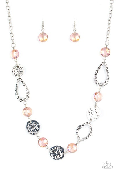 High Fashion Fashionista Pink Necklace