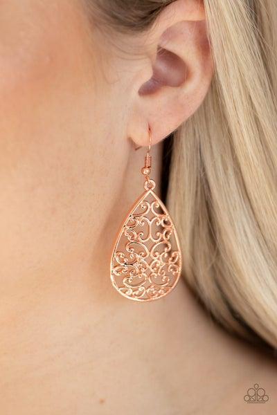 Divine Vine Copper Earrings