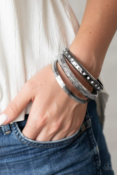 Revved Up Rhinestones Multi Bracelet