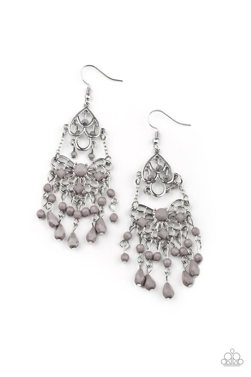 Glass Slipper Glamour Silver Earrings