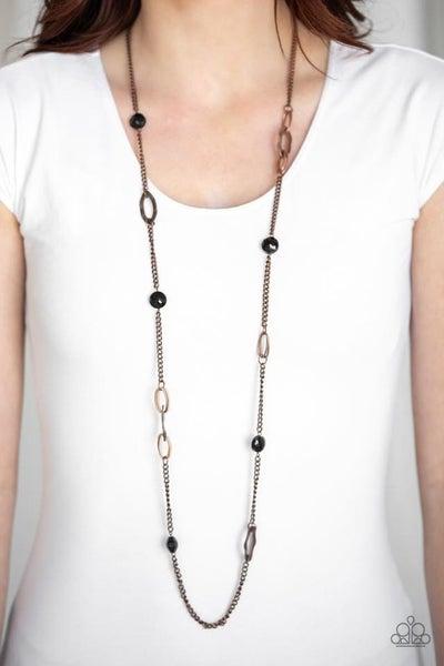 Duchess Dazzle Black Copper Necklace