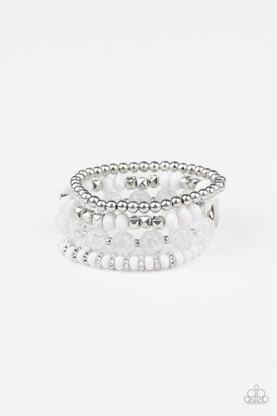 Layered Luster White Bracelet