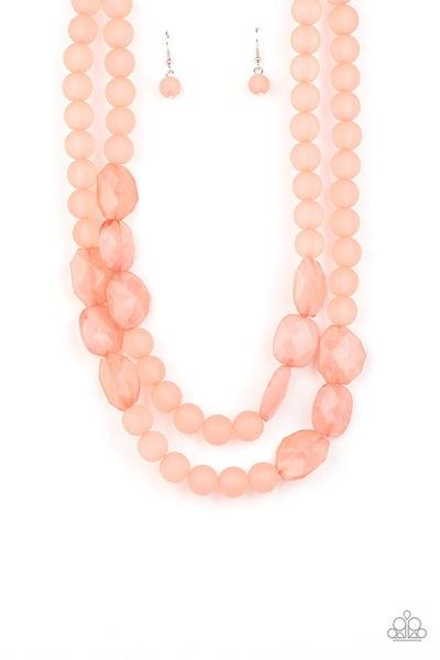 Arctic Art Pink Necklace
