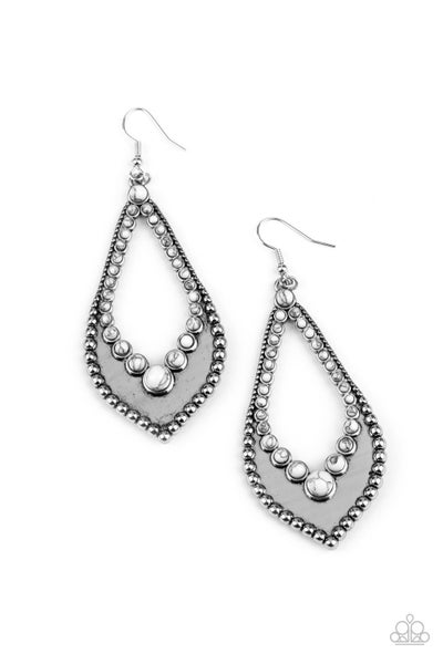 Essential Minerals White Earrings