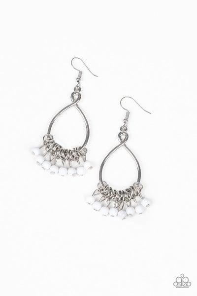 Broadway Babe White Earrings