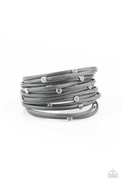 Fearlessly Layered White/Silver Bracelet
