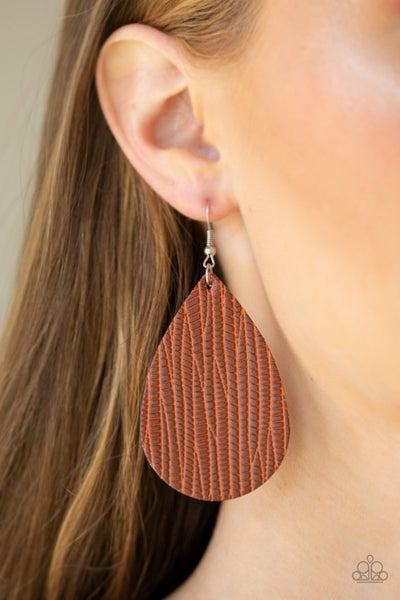 Natural Resource Brown Earrings