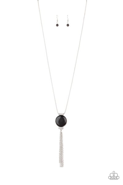 Happy As Can Beam Black Necklace
