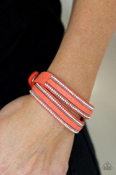 Going For Glam Orange Bracelet