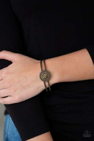 Definitely Dazzling Brass Bracelet