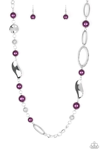 All About Me Purple Necklace