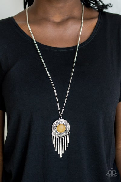 Bon Voyager Yellow Necklace