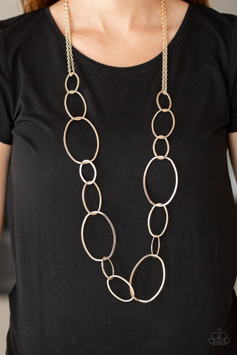 City Circuit Rose Gold Necklace