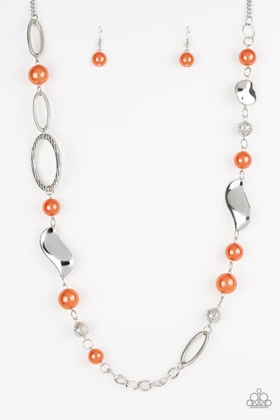 All About Me Orange Necklace