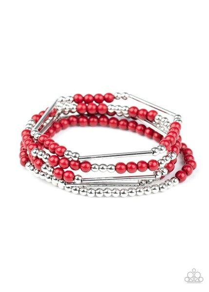BEAD Between The Lines Red Bracelet