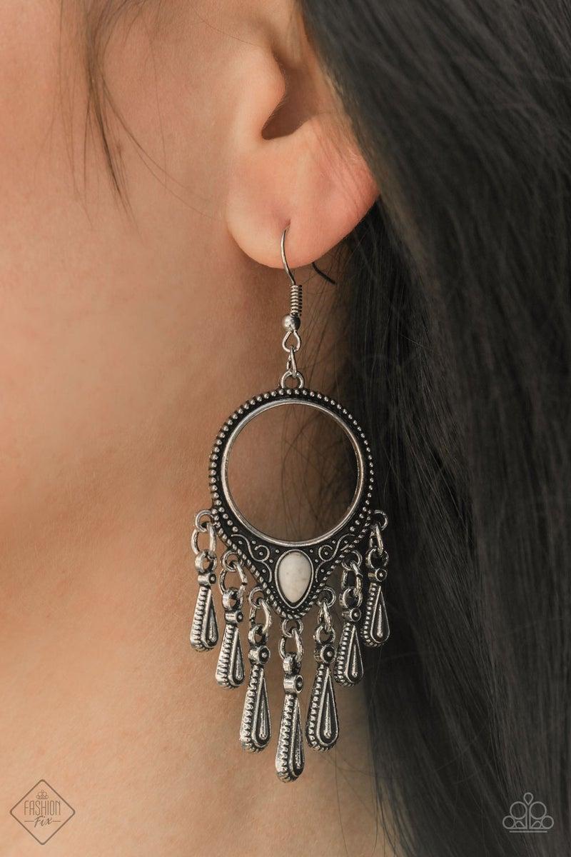 Ranger Rhythm White Earrings