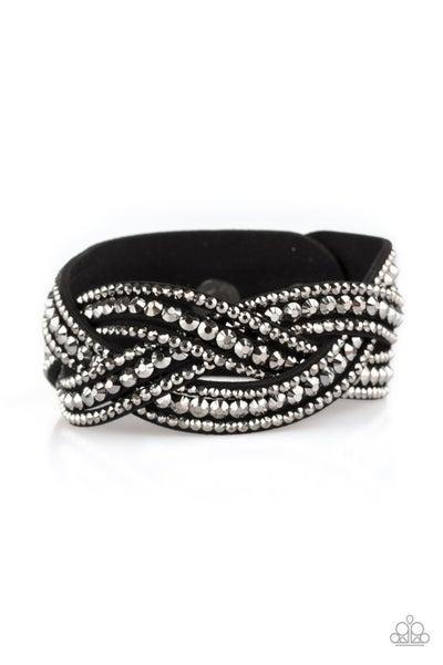 Bring On The Bling Black Bracelet