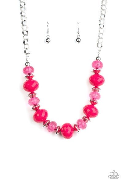 Hollywood Gossip Pink Necklace