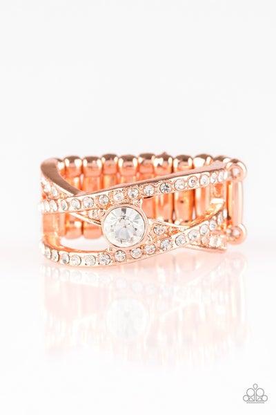 Prepare To Be Dazzled Copper Ring