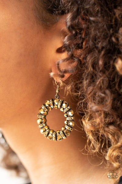 Baby, It's Cold Outside Brass Earrings