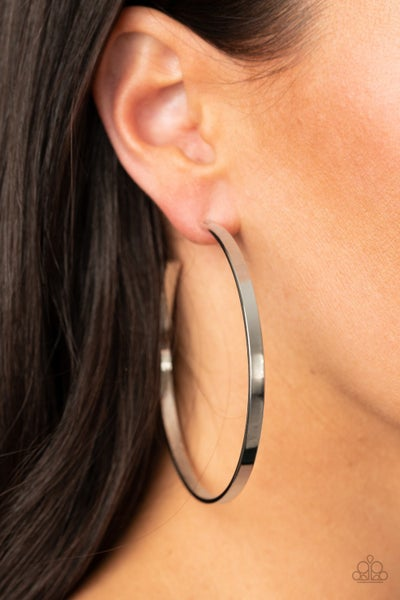 Lean Into The Curves Silver Hoops