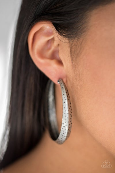 Jungle To Jungle Silver Hoops
