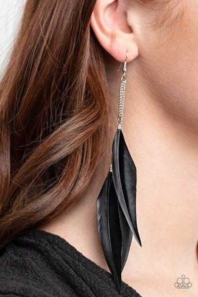 West Side Western Black Earrings