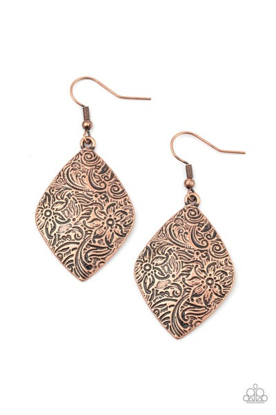 Flauntable Florals Copper Earrings