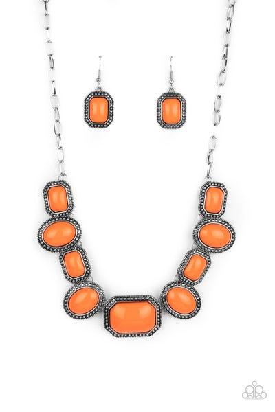 Let's Get Loud Orange Necklace