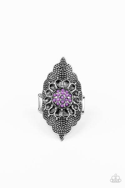 Wildly Wallflower Purple Ring
