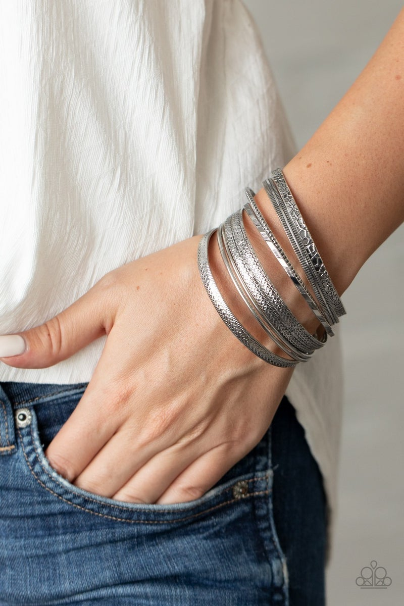Relics On Repeat Silver Bracelet