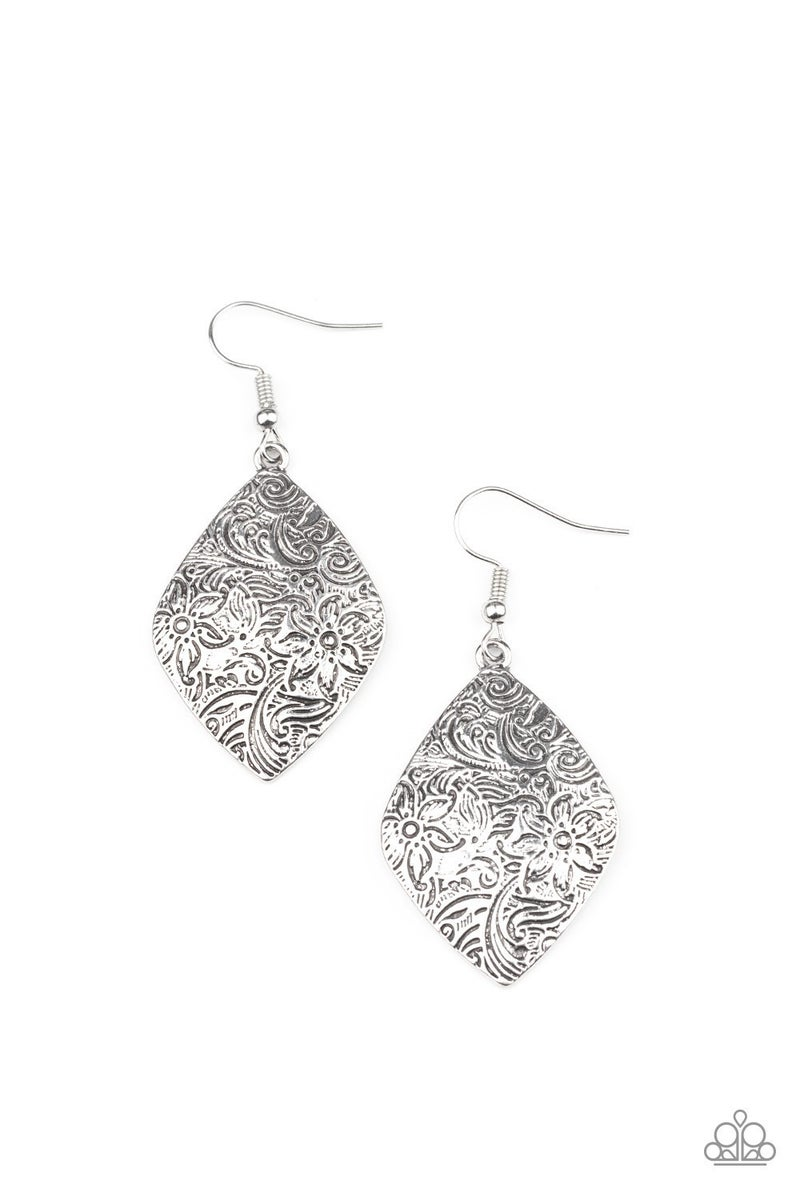 Flauntable Florals Silver Earrings