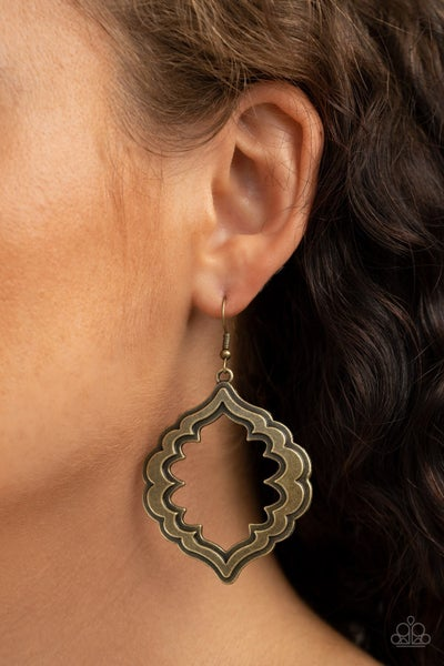 Taj Mahal Majesty Brass Earrings