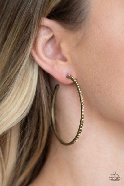 Trending Twinkle Brass Hoops