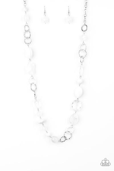Prismatic Paradise White Necklace