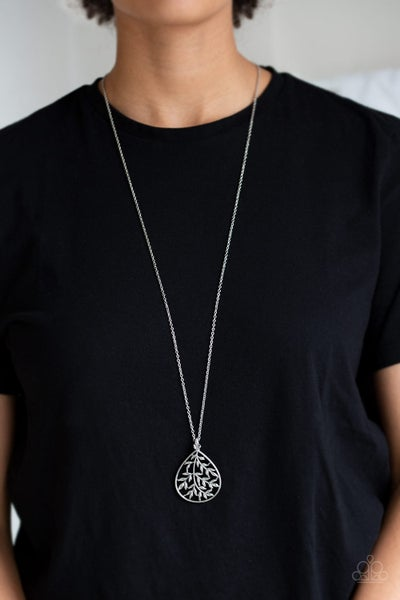 Bough Down Silver Necklace