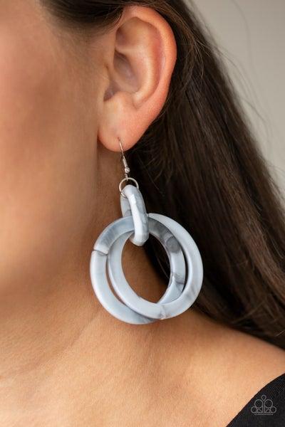 Retro Riviera Silver Earrings